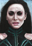 Hela (colored pencils) by MayTheForceBeWithYou