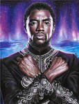 The king of Wakanda (colored pencils) by MayTheForceBeWithYou