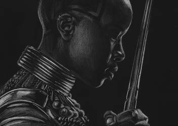 Okoye (black paper) by MayTheForceBeWithYou