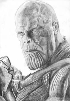 Thanos (Infinity War) sketch by MayTheForceBeWithYou
