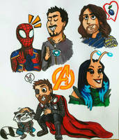Infinity War doodles by MayTheForceBeWithYou