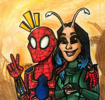 Peter and Mantis by MayTheForceBeWithYou