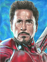 Tony (colored pencils) by MayTheForceBeWithYou