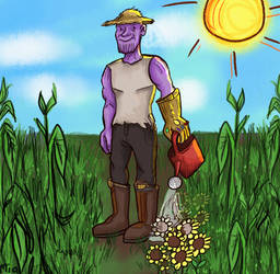 Purple peasant XDDDD by MayTheForceBeWithYou