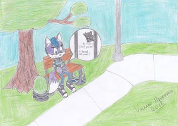 Waiting a good friend! (Contest Entry) by Vulkano-Hedgehog