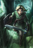 The Hero in Green by VegaColors