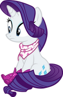 Rarity With Boots and Bandana by IronM17