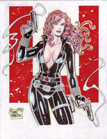 Black Widow (#1) by Rodel Martin by VMIFerrari