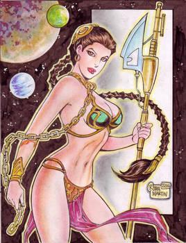 Slave Leia -Star Wars- (#2) by Rodel Martin by VMIFerrari