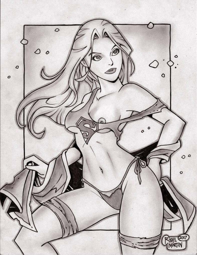 'Cartoon' Supergirl (#5A) -NUDE- by Rodel Martin by VMIFerrari