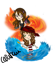 Kaylee and Achiko BFF by Caritami