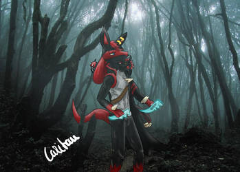 Phoenix with dragon Ryu by Caritami
