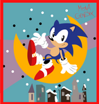 A Sonic on the Moon by monachao