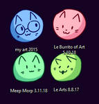 I MADE MY ART FOLDER ICONS INTO LITTLE CAT BLOBS by Caia-Mei