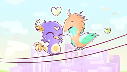 Lovebirds by Caia-Mei