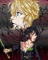 Mika and Yuu - Collab by Lyn-Uchiha