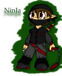 Chibi ninja by Jin-Dragon