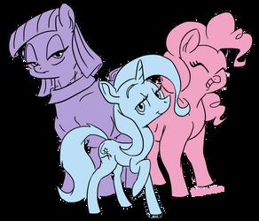Three Ponies by FouDubulbe