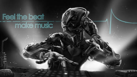 Robot can make music - Black and White by tcheky199