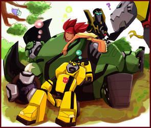 Autobots taking a nap by piyo119