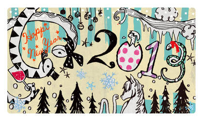 Japanese New Year's card 2013 by piyo119