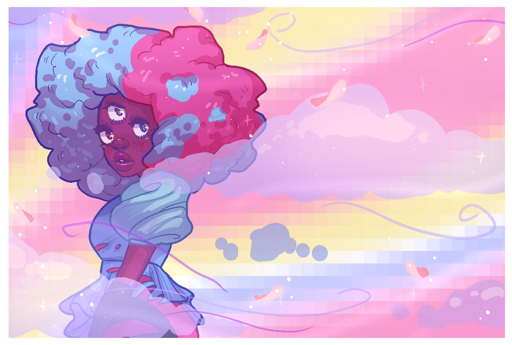 hhhhhhh this was such a nice ep. the whole ep had lovely aesthetics her fusion's overall ambiance was me I really liked it :'))) cotton candy garnet is so cute! OH AND I did a speed paint of this!&...