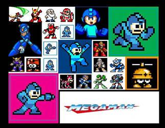 Mega Man Sprites by Lan1981