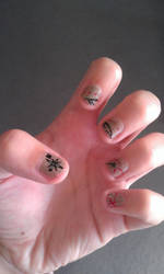 Treasure Map nails by quwira