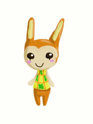 Animal Crossing New leaf Bunnie by quwira