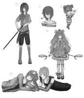 [ PC ] Sketch Commission Batch by Akeita