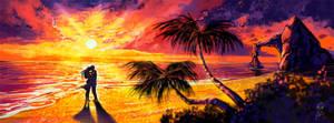 Speedpainting - Sunset shore by pin100