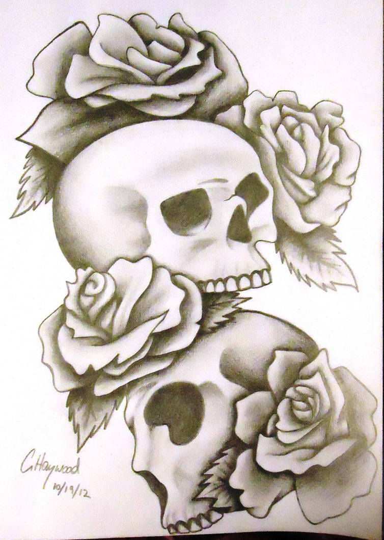 Skullrose Tattoo Design By Noctiluca Angel On Deviantart