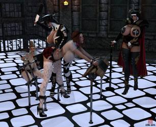 Inquisitorial Spanking of Nicky by AesmaDaeva37