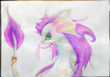 Dragon Watercolour Painting by Furue