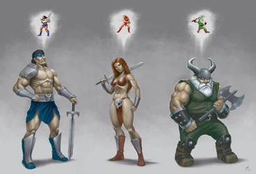 Golden Axe II Heroes by GidraAttacks