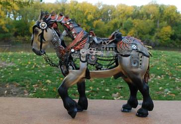 Steamjunk horse by FriesianFury