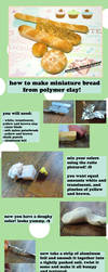Miniature Clay Bread TUTORIAL by GrandmaThunderpants