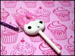 Berry Bunny Pop Necklace by GrandmaThunderpants