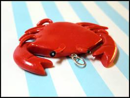 Crab Charm by GrandmaThunderpants