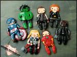 The Avengers Charms by GrandmaThunderpants