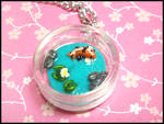 Koi Pond Necklace by GrandmaThunderpants