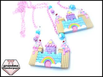 Large Candy Castle Necklace by GrandmaThunderpants