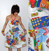 Legend of Zelda + Mario Dress by jaleh