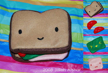 Sandwich Plushie by jaleh