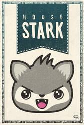 Game of Thrones Stark kawaii house banner by jaleh