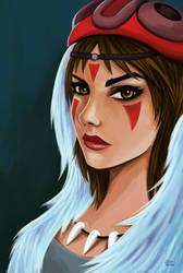 Princess Mononoke by jaleh