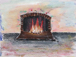 Christmas Fire Place by olls96