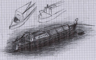 Canal Boat Sketch by olls96
