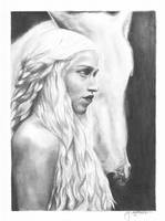 daenerys targaryen - pencil by juelshaness
