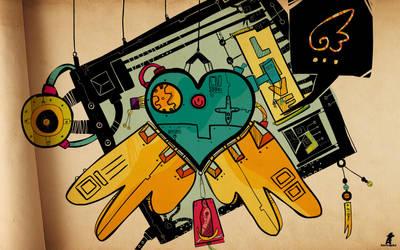 Hanabi heart : Wallpaper WS by Aguiluz